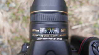 魚眼レンズの焦点距離の印字