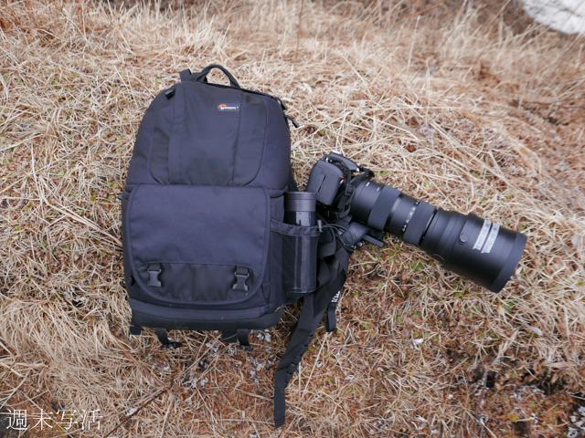 登山道具とシグマ150-600の写真