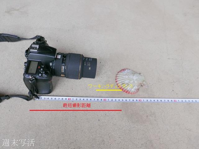 最短撮影距離とワーキングディスタンスの説明写真