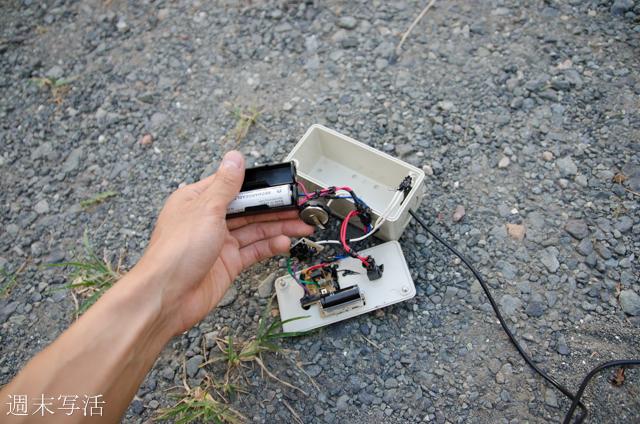 自作ストロボの電池ケース