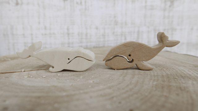 木製クジラ