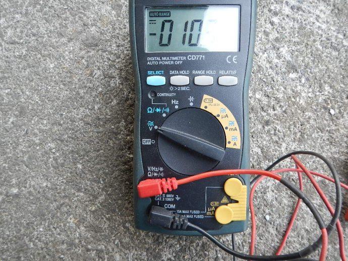 テスター電圧レンジ