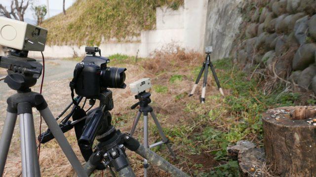 自動撮影装置の設置風景
