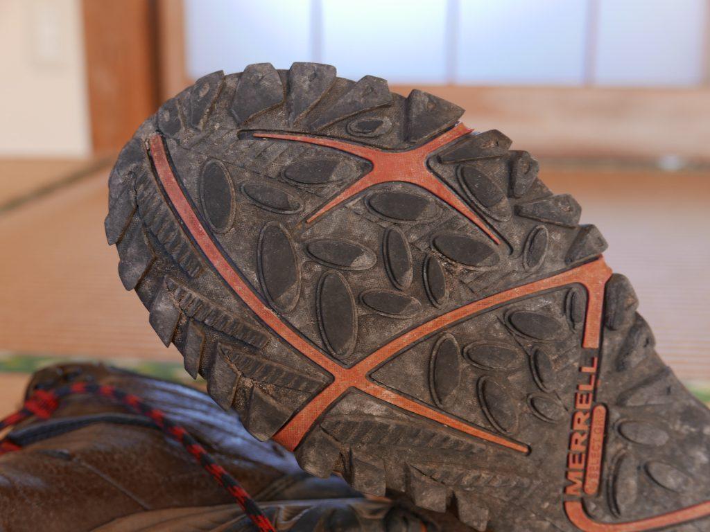 登山靴ソールの痛み